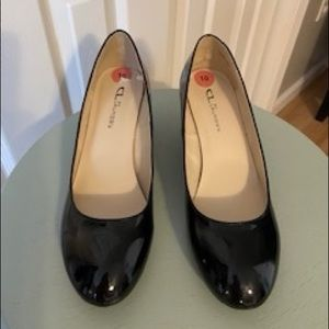 CL by Laundry Black Wedges, Size 10, NWOT